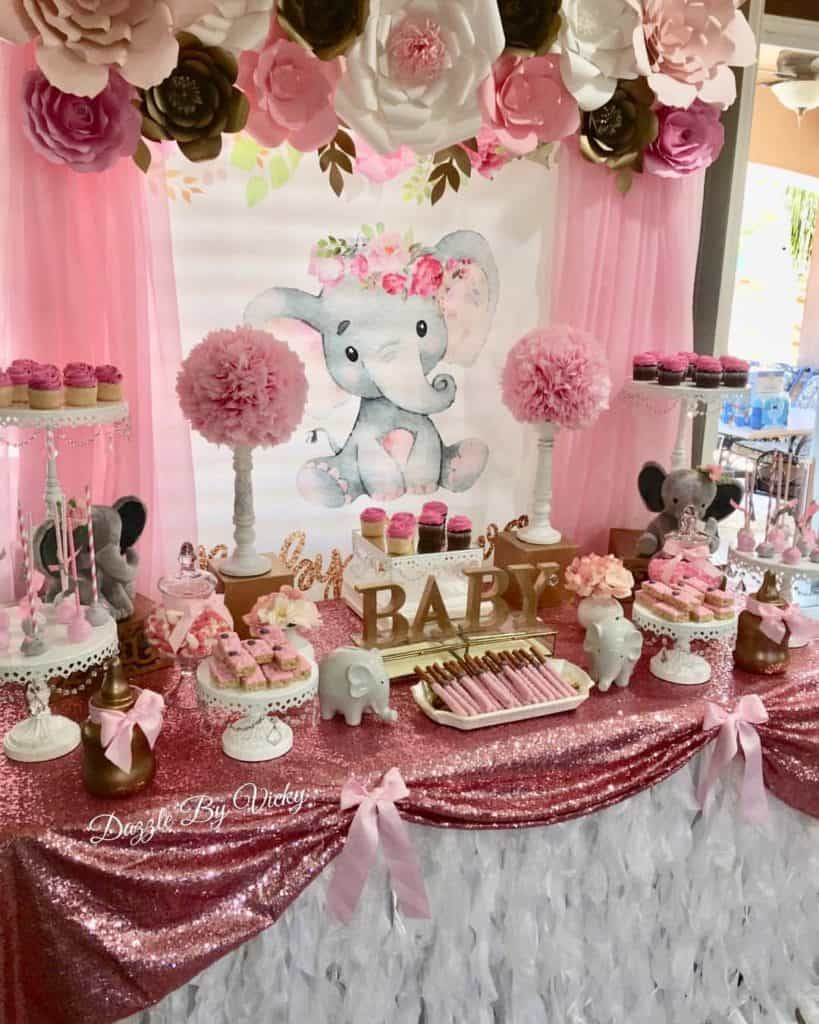 Elephant Themed Baby Shower Ideas For Girl